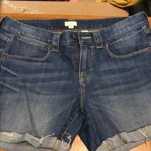 J.Crew Jean cut off shorts